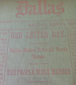 red letter day dallas paper