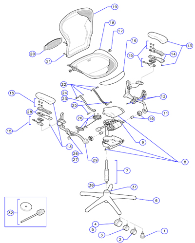 herman miller aeron chair assembly instructions