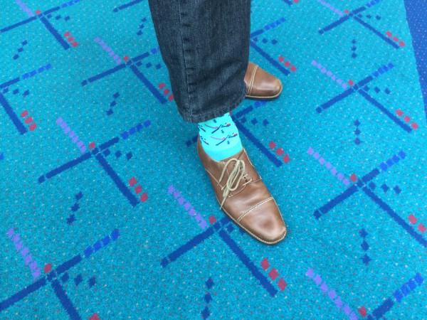 socks on carpet
