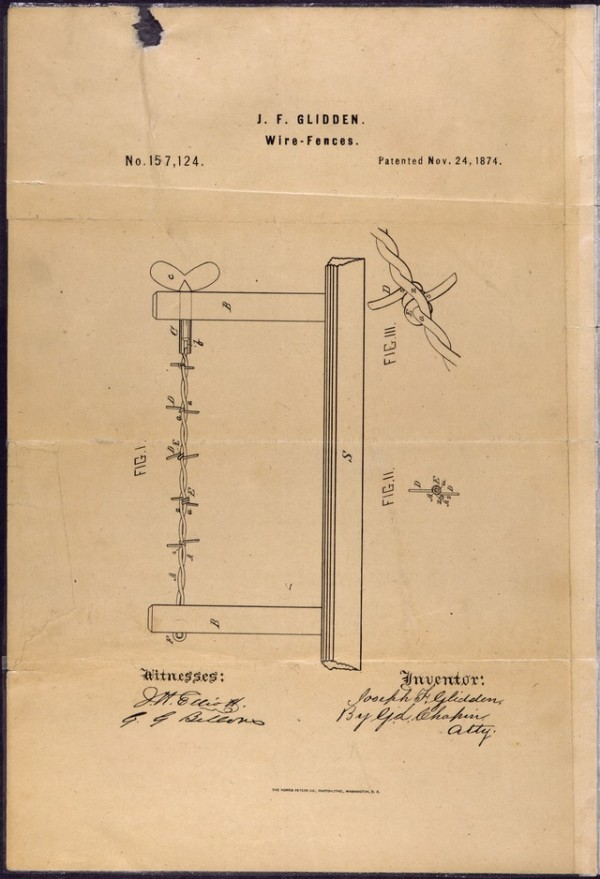 Patent_Drawing_for_Joseph_F._Glidden's_Improvement_to_Barbed_Wire_-_NARA_-_302051.tif