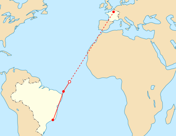 planned route