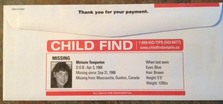 missing kid utility bill