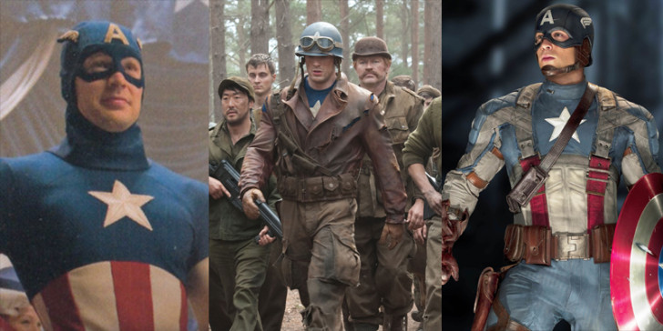 captain america over time
