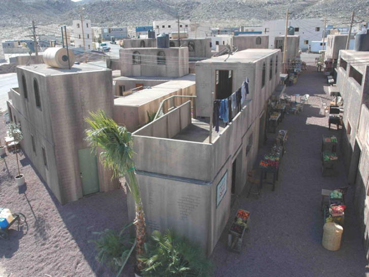 simulated combat town