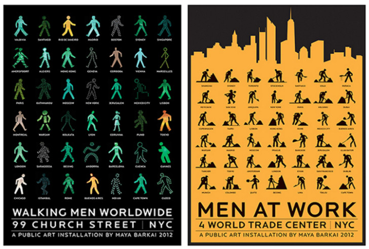 walking men posters