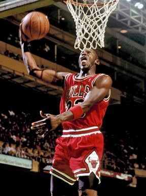 Michael Jordan at Boston Garden by Lipofski