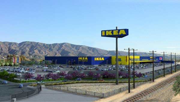 Rendering of the new 470,00-square-foot IKEA planned for Burbank, California