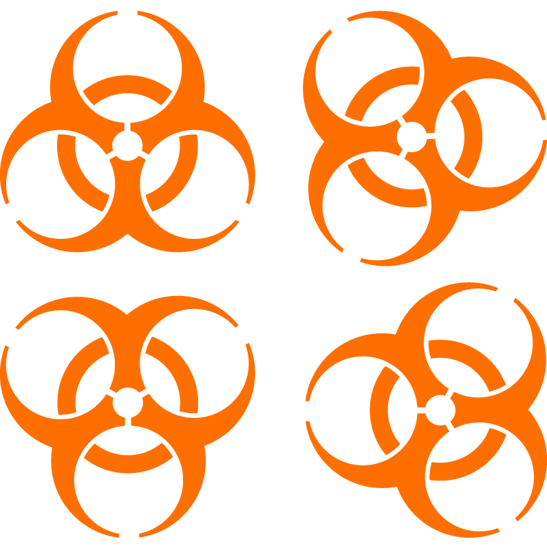 Biohazard Iconic Symbol Designed To Be Memorable But Meaningless