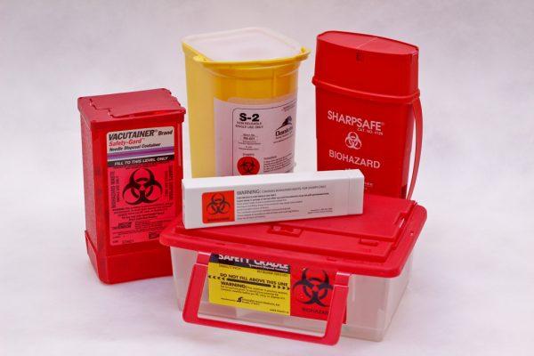 discard biohazard boxes