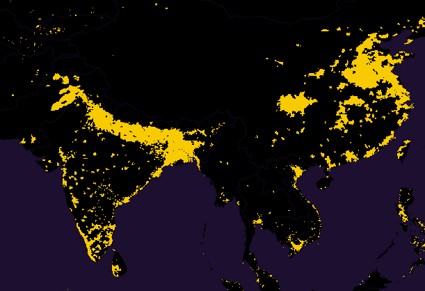 population india china closeup