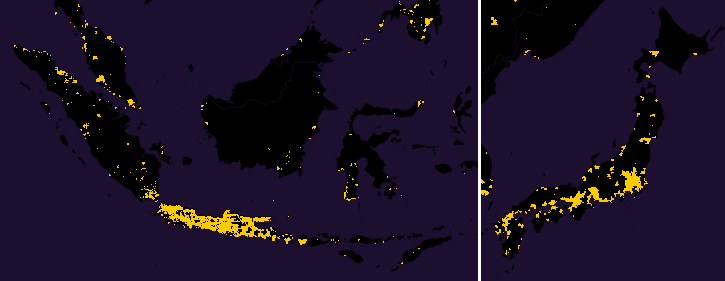 population japan java closeup