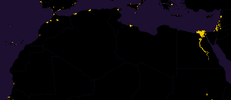 population north africa closeup