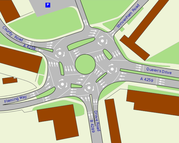 swindon roundabout diagram