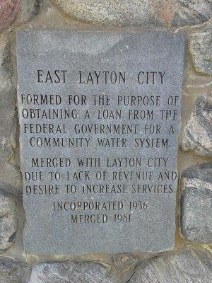 east layton city plaque