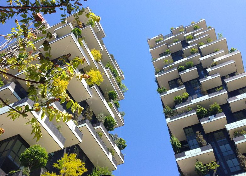 finished bosco verticale skyscraper