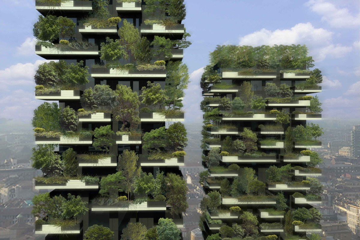 green vertical forest