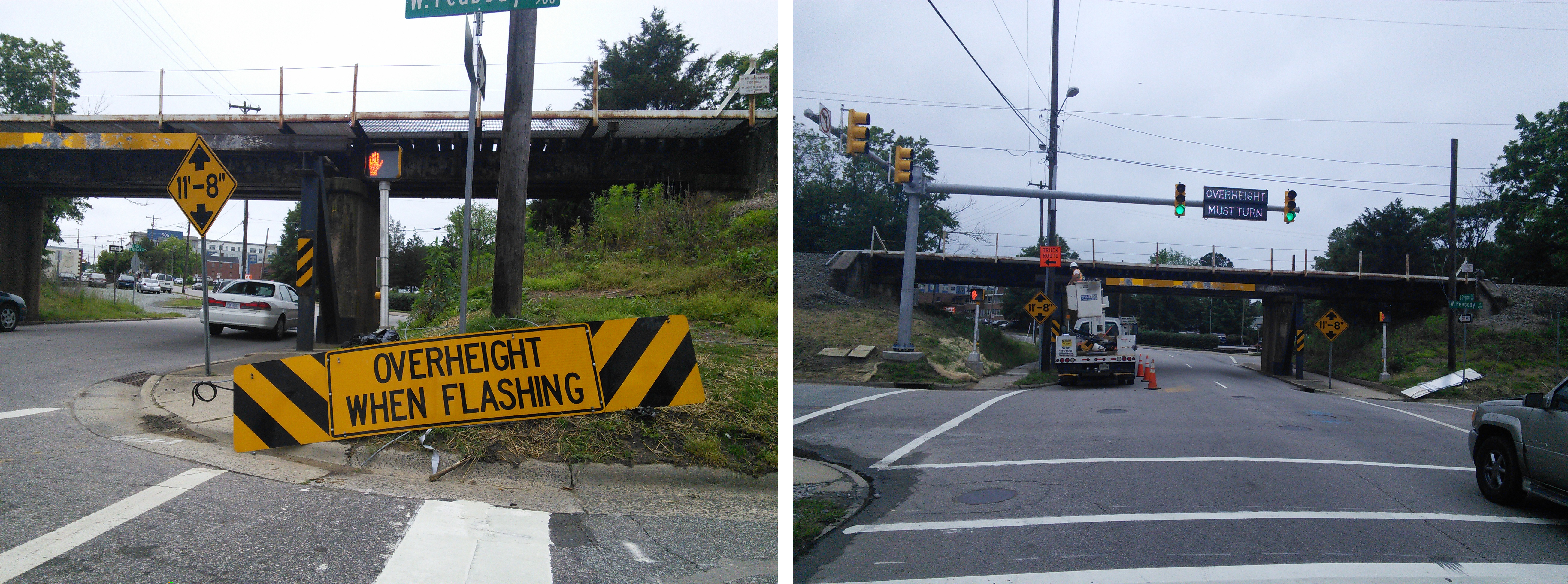 11 feet 8 inches infamous can opener bridge continues to catch new versus old sign biocorpaavc Images