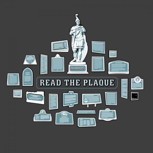 Always Read The Plaque t-shirt available at ChopShop