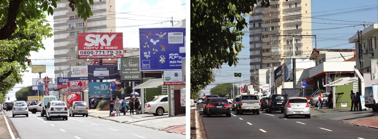 street before after
