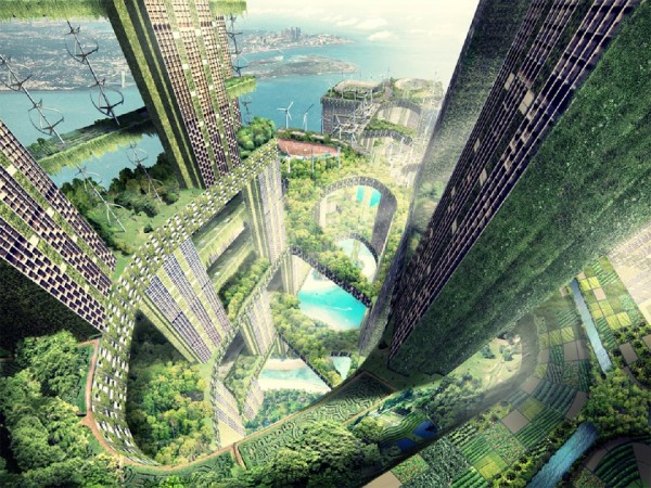 Vertical forest competition entry for Singapore by WOHA
