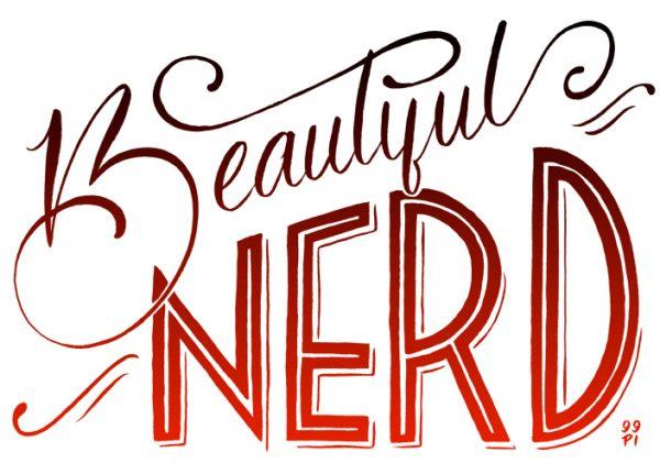 beautiful nerd poster