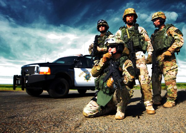 California Highway Patrol SWAT team in tactical uniforms by HPSocialMedia