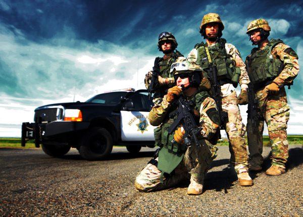 California Highway Patrol SWAT team in tactical uniforms by HPSocialMedia