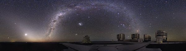 The night sky in the Atacama Desert at the Paranal Observatory