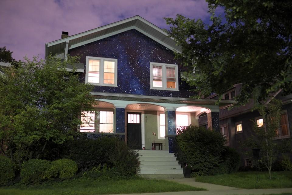 night sky house