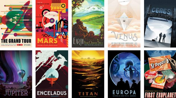 NASA space travel posters from the Jet Propulsion Laboratory