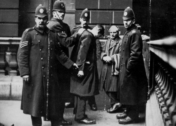 trenchcoat british police