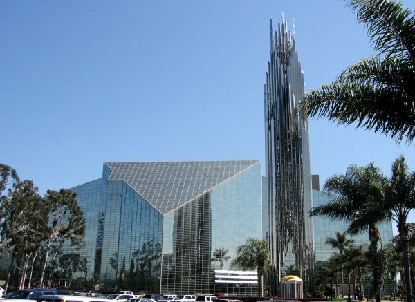 The Crystal Cathedral in Garden Grove, California, designed by Philip Glass, image by Arnold C (Buchanan-Hermit)