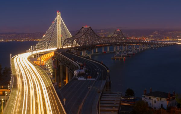 New (left) and old (right) East Bay spans of the Bay Bridge by Frank Schulenburg (CC BY-SA 3.0)