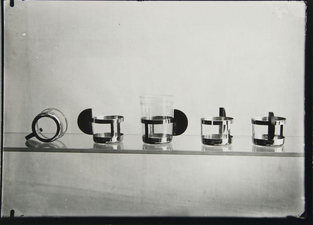 bauhaus kunst tea glass holders by max krajewski kunstepoche