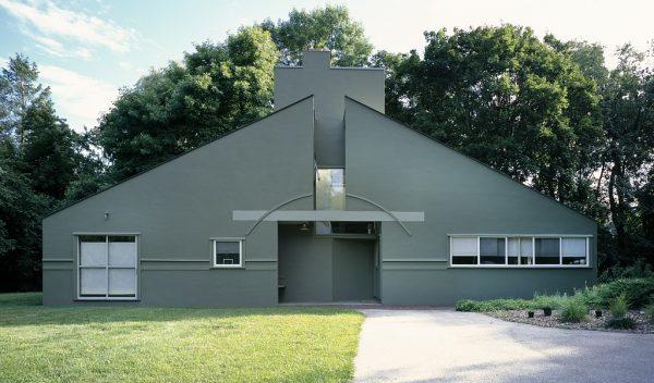 Vanna Venturi House in Chestnut Hill, built in 1989 by architect Robert Venturi.