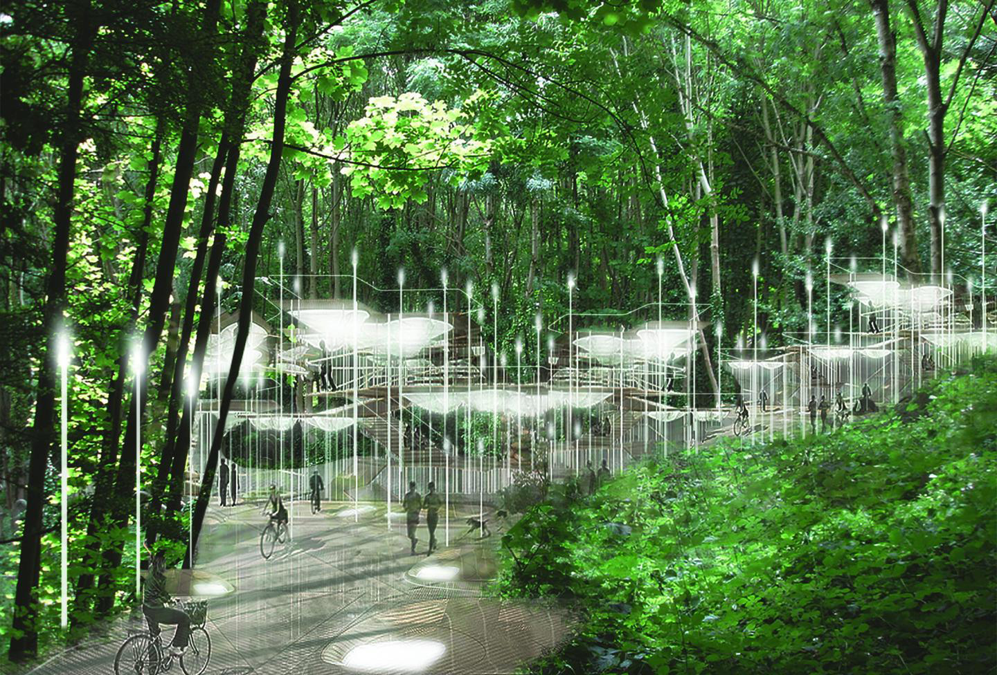 Sylvan Constellation Project combines sustainable burial and interactive technologies