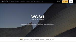 WGSN homepage