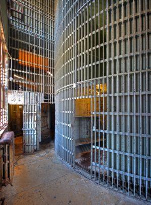 Squirrel Cage Jail in Council Bluffs, Iowa
