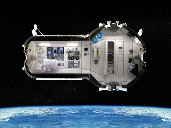Russian space hotel room concept design