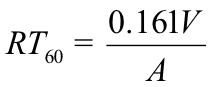 sabine-equation