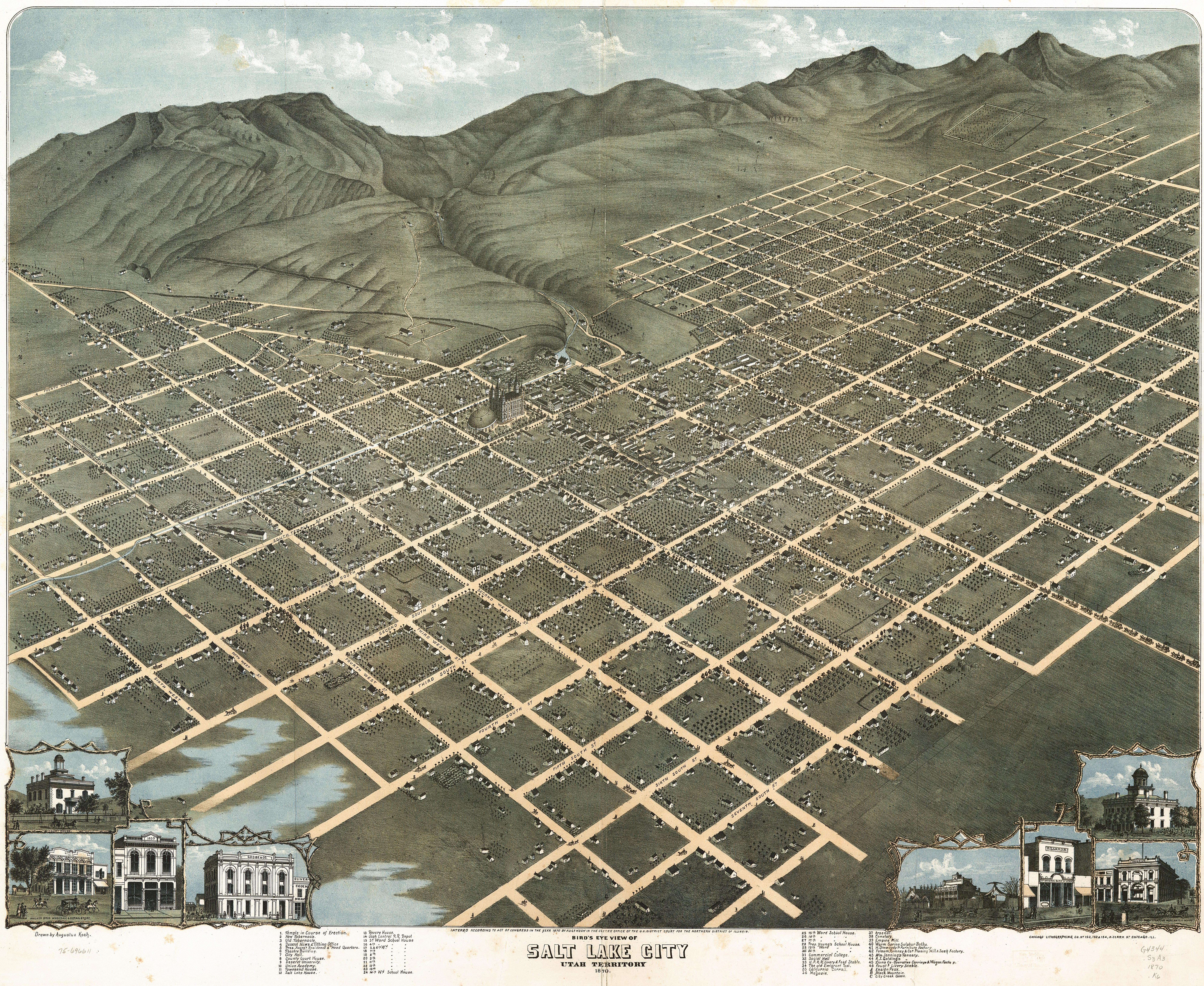 Plat of zion 99 invisible plat of zion play pause birds eye view of salt lake city utah publicscrutiny Images