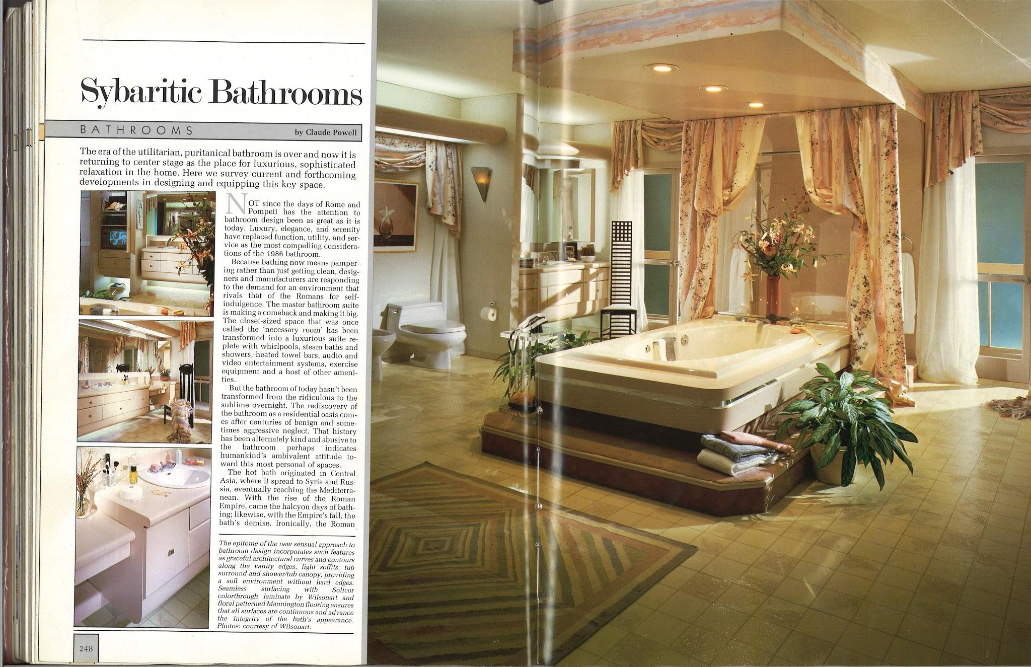 Upper middle class living room - From International Collection Of Interior Design 1986