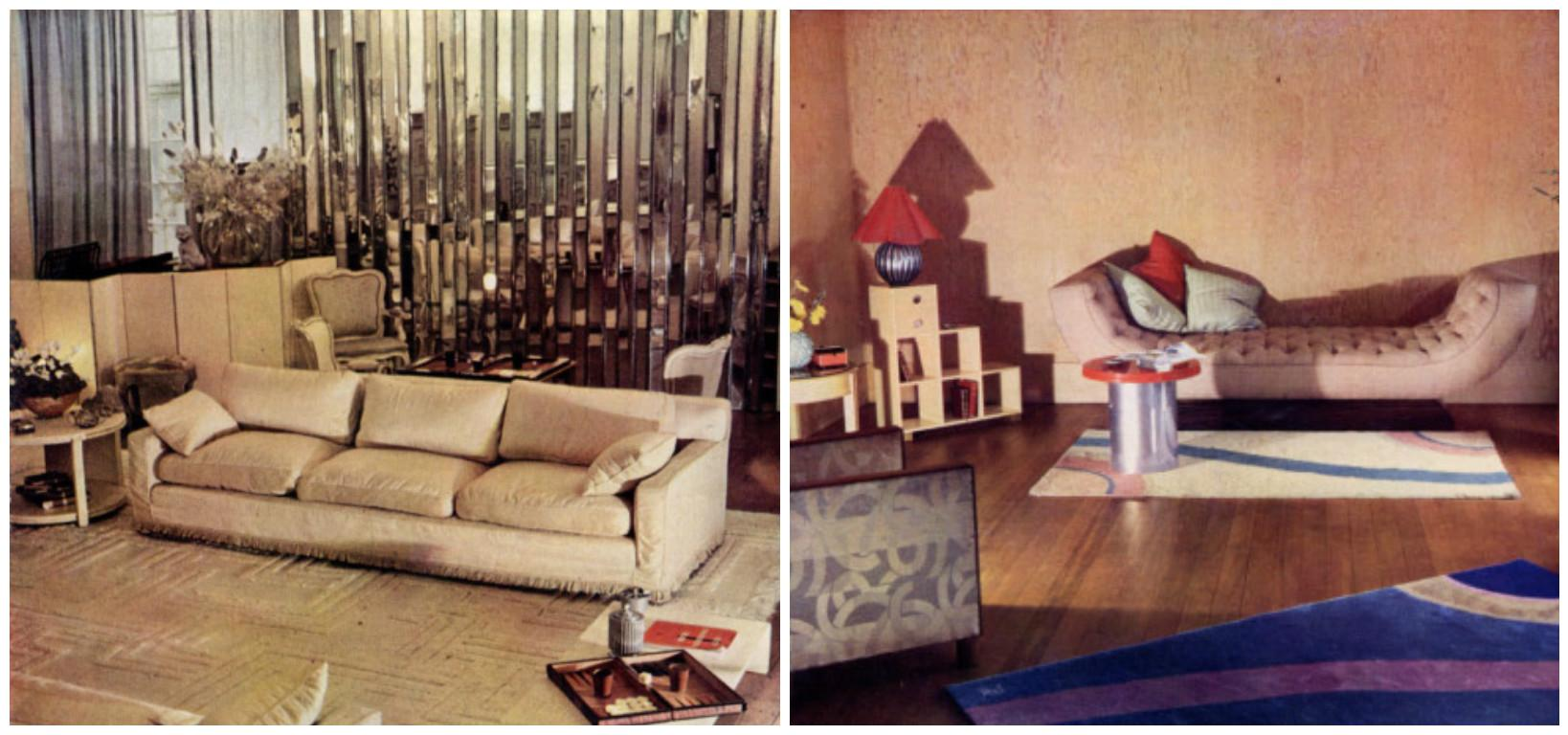 Upper middle class living room - Interiors By Syrie Maugham Left And Betty Joel Right From Derek Patmore S 1934 Book Colour Schemes For The Modern Home