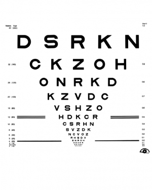 Visual Acuity chart by the National Eye Institute (CC BY 2.0)