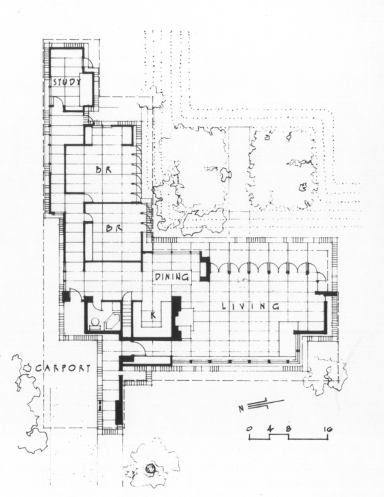 Usonia 1 99 invisible for Frank lloyd wright floor plans