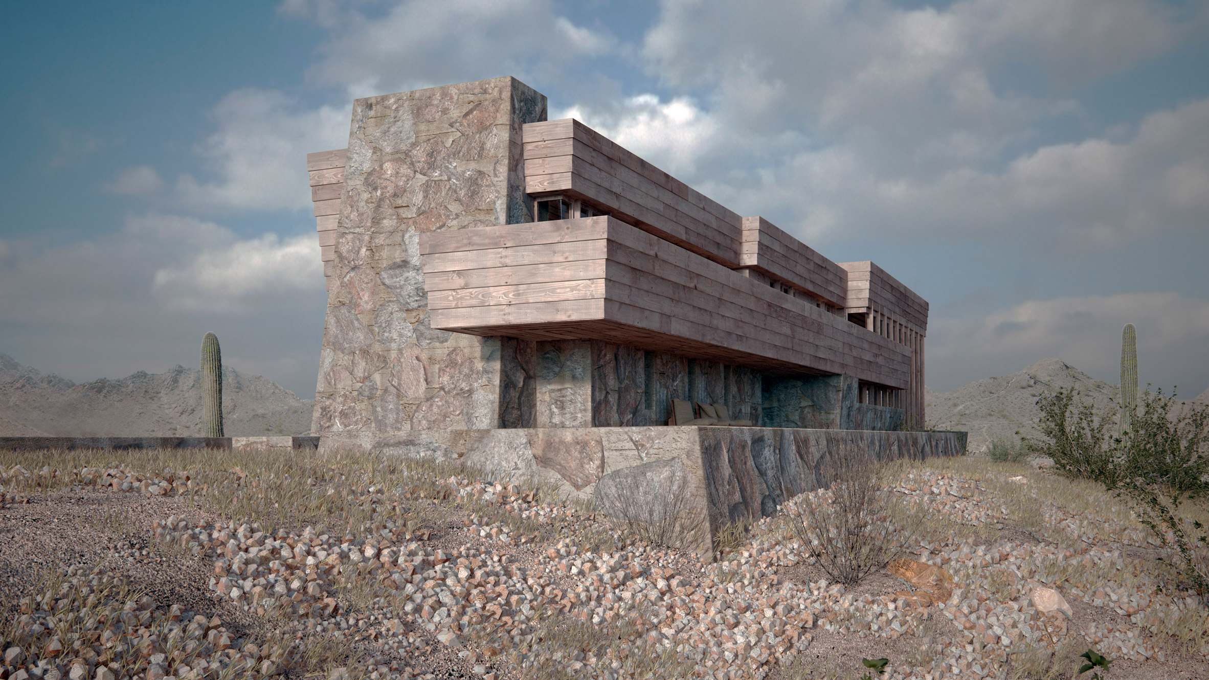 Colorful past photorealistic recreations of lost frank - Frank lloyd wright arquitectura ...
