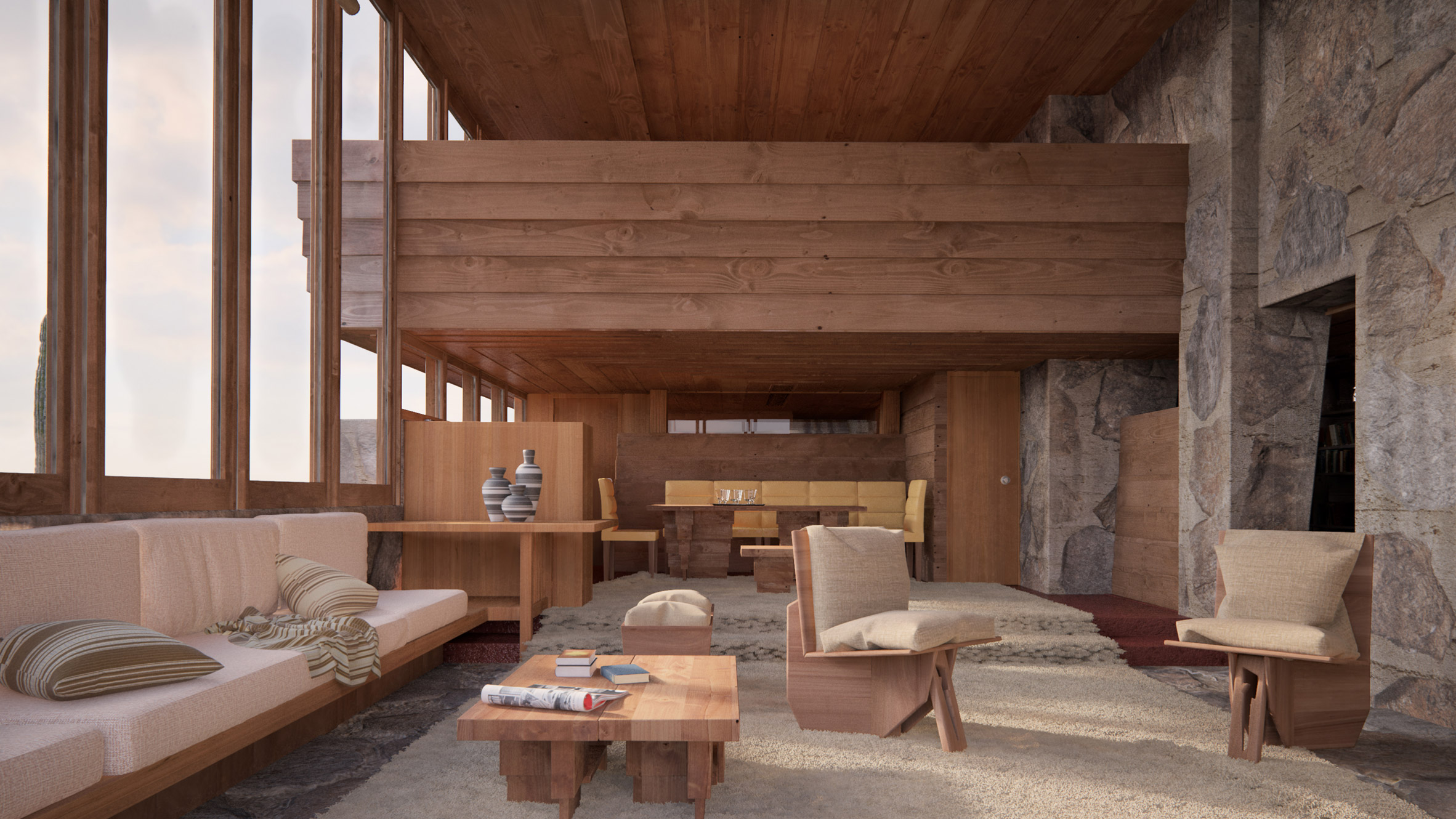 Colorful Past: Photorealistic Recreations Of Lost Frank Lloyd Wright  Buildings   99% Invisible