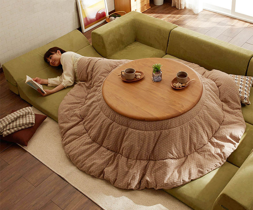 Kotatsu Tables: Cozy Mobile Hearths Solve Space Heating In Japanese Homes    99% Invisible