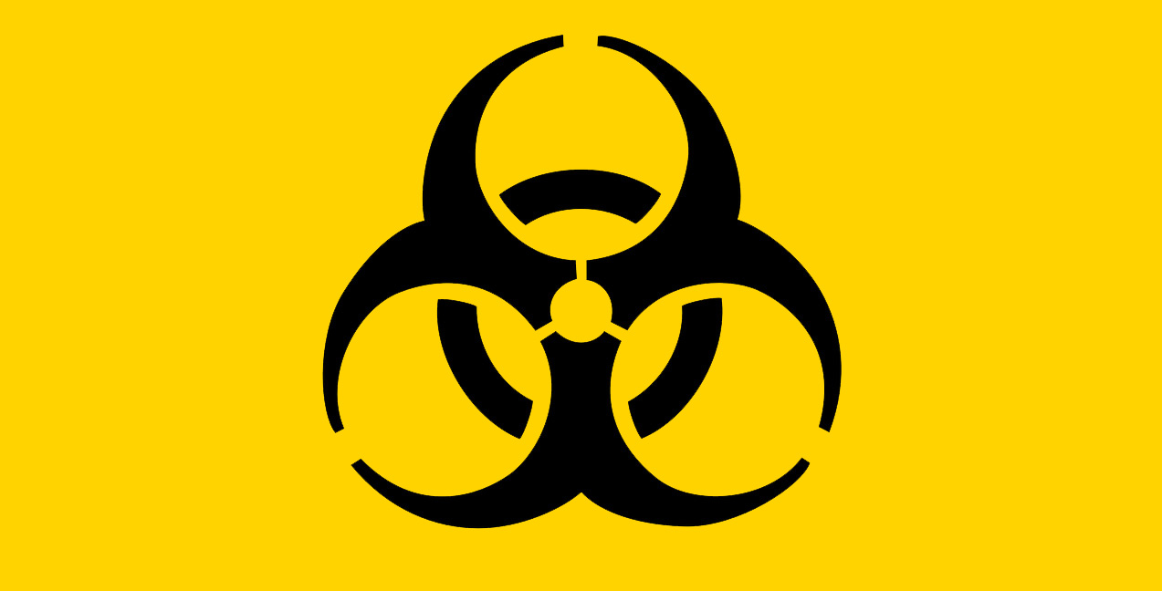 Meaning of signs of radioactivity and biological danger