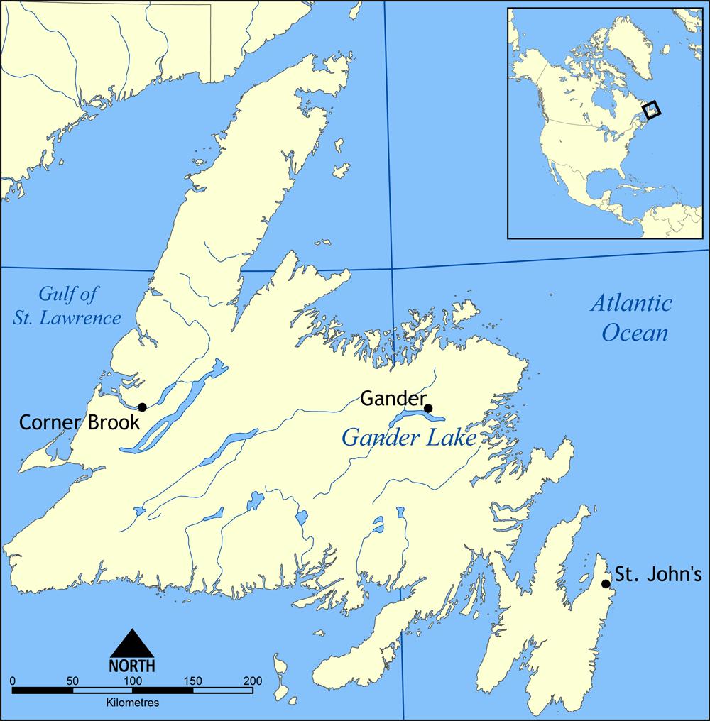 Gander Canada Map.Gander International Airport 99 Invisible